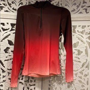 Half zip ombré workout shirt